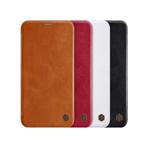 NILLKIN Flip Shockproof Card Slots Holder Full Cover PU Leather PC Protective Case for iPhone 11 Pro Max 6.5 inch