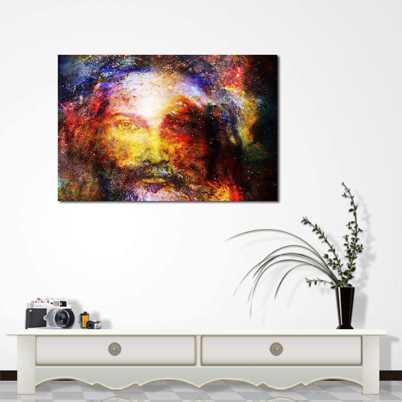 Miico Hand Painted Oil Paintings Jesus Portrait Wall Art For Home Decoration