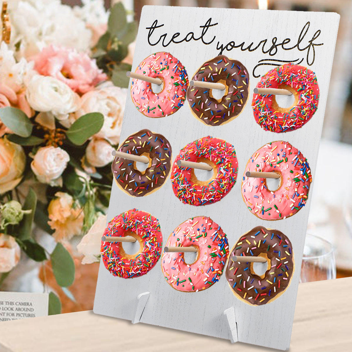 Donut wall hold candy sweet stand wooden table holder wedding decor  supplies diy decorations holder Sale - Banggood.com