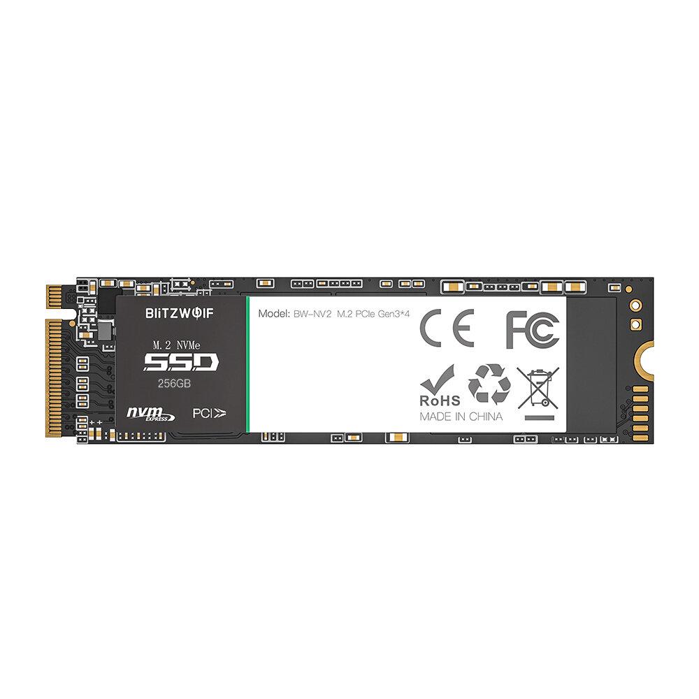 BlitzWolf�BW-NV2 PCIe Gen3*4 NVMe1.3 SSD 256GB M.2-2280 M-Key Soild State Drive Hard Disk 256GB