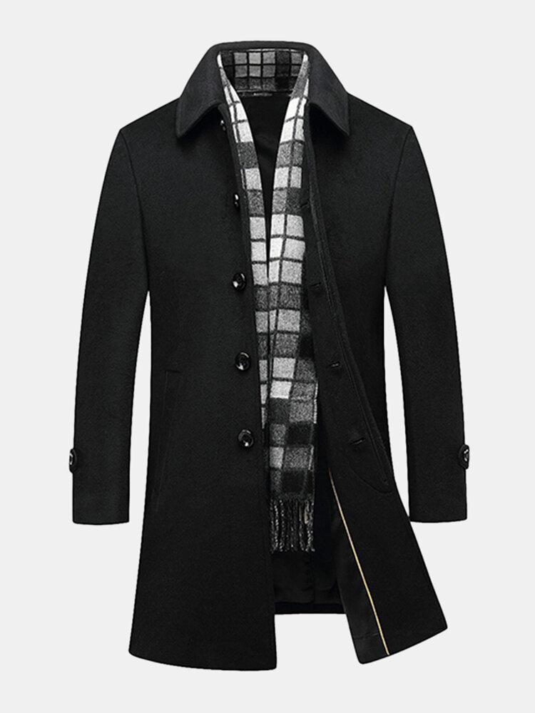 Áo khoác dạ màu đen sành điệu dành cho nữ