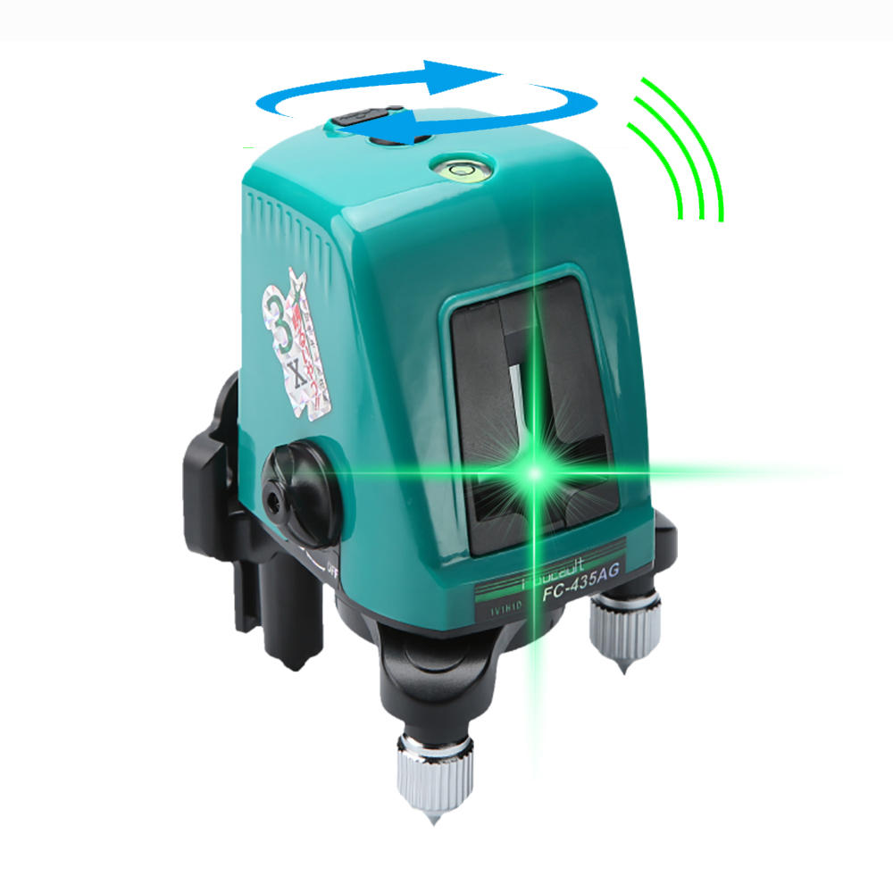 Foucault FC-435AG Mini Infrared Laser Level with Oblique Function Line Projector 2 Line 1 Brightening Point Green Light