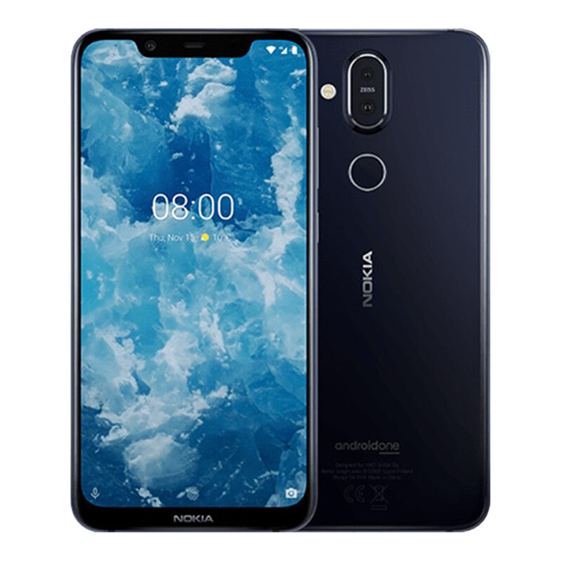 Nokia 8.1 Global Version 6,18 tommers FHD + ren skjerm NFC Android 10 3500mAh 20MP Front Facing Camera 6GB RAM 128 GB ROM Snapdragon 710 Octa Core 4G Smartphone