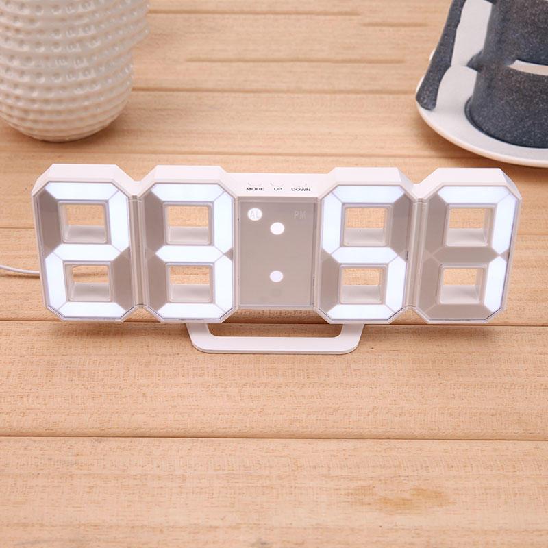 Digital Electronic Desktop Clock LED Clock Alarm Clock 12/24 Hours Display Home Decorations