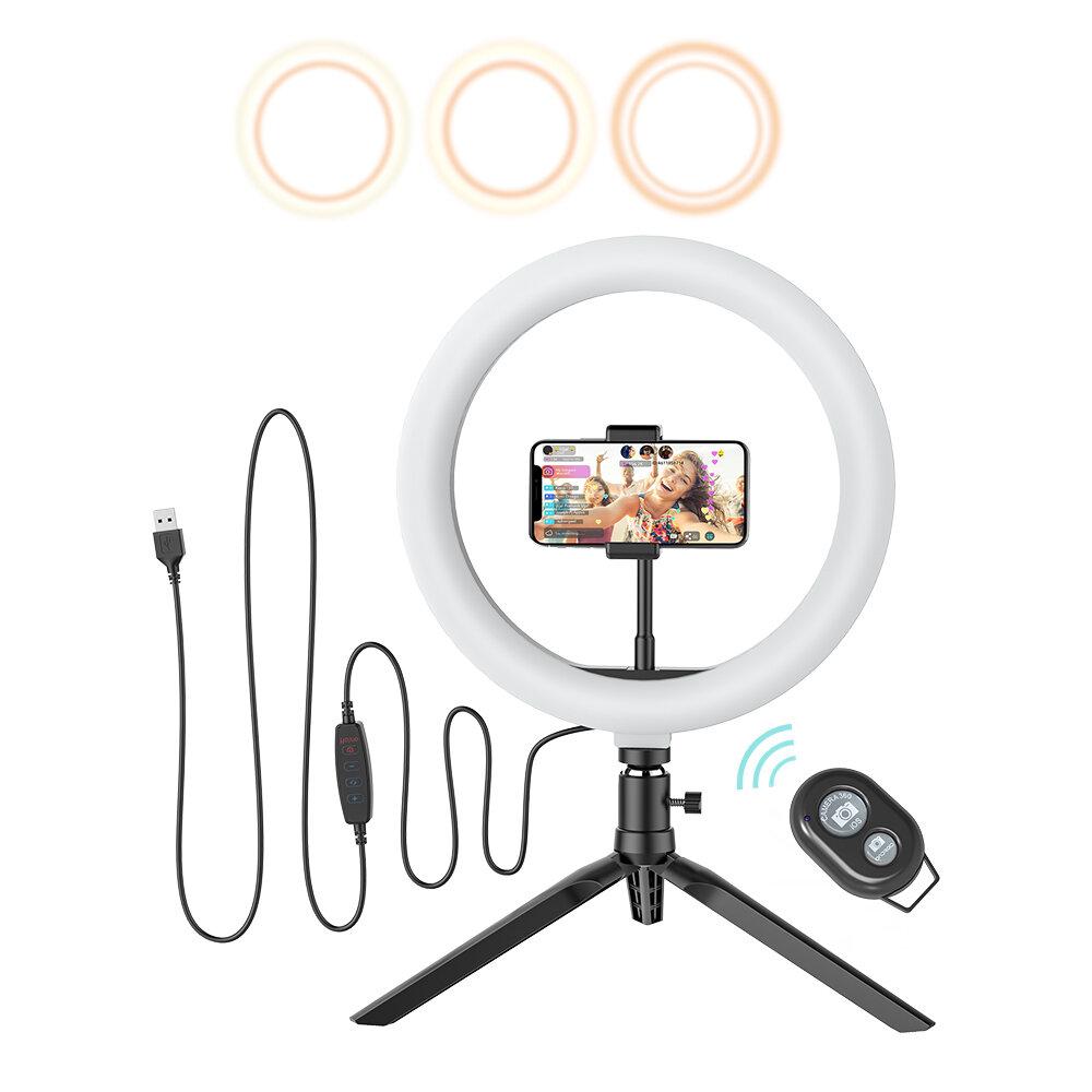 BlitzWolf® BW-SL3 Flash LED Phone Holder Selfie Stick bluetooth Remote Live Removable Tripod Stand
