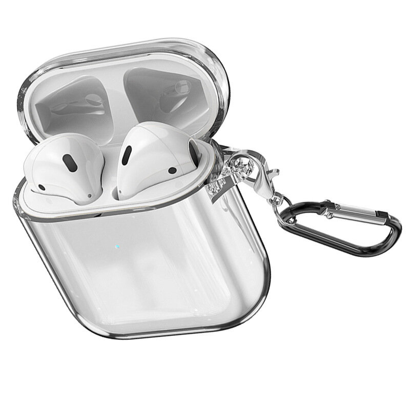 Bakeey Transparent Soft TPU Shockproof Earphone Storage Case with keychain for Apple Airpods 1 / Apple AirPods 2