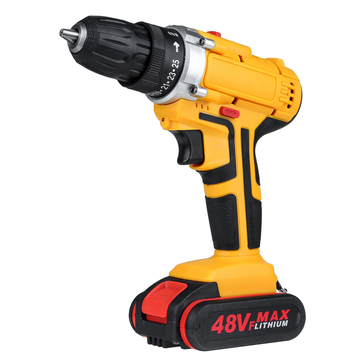 48V 1300mAh Cordless Electric Drill 25+3 Gear Electric Screw Driver Drill With 1 Or 2 Battery