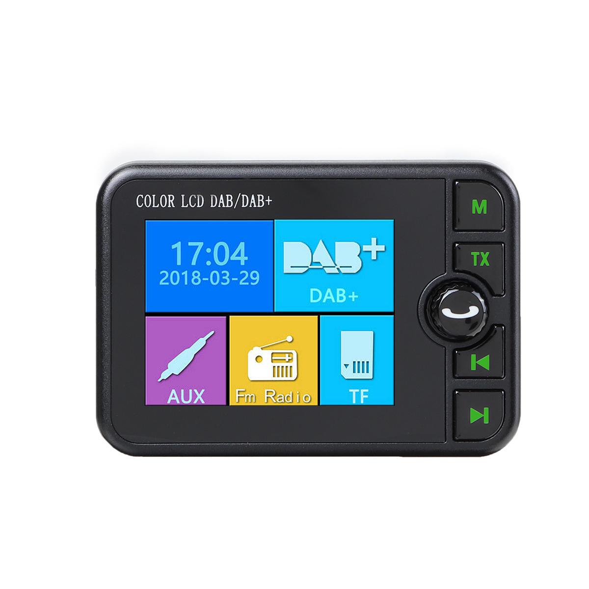 Car DAB/DAB+ Receiver Digital Radio Adapter bluetooth FM Hands-free AUX USB