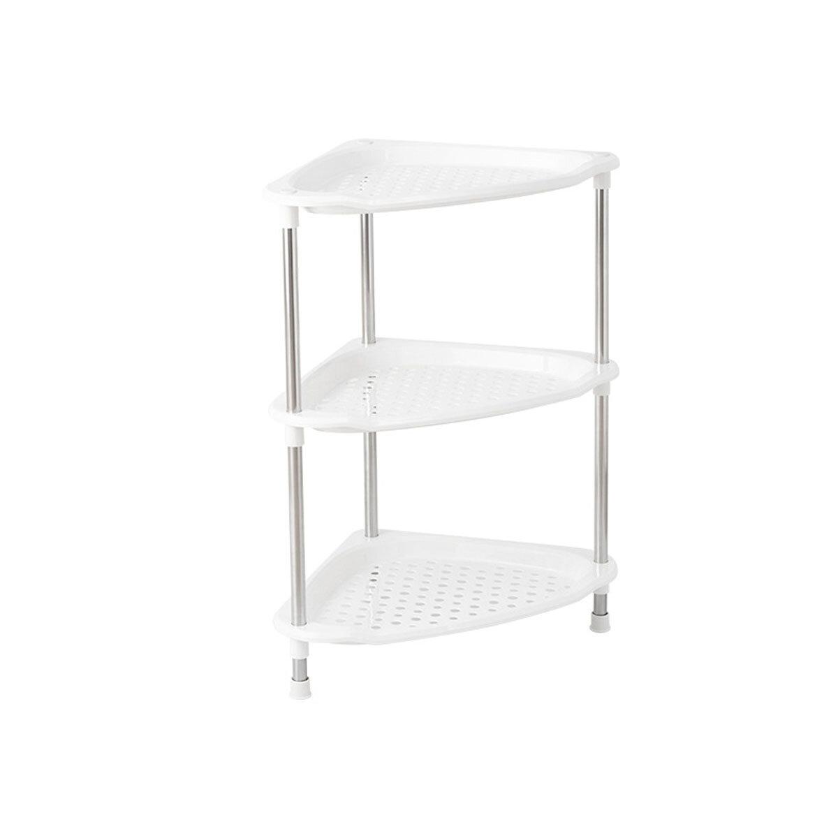 4 Layers Corner Rack Shelf Bathroom Kitchen Storage Baskets Space Saving