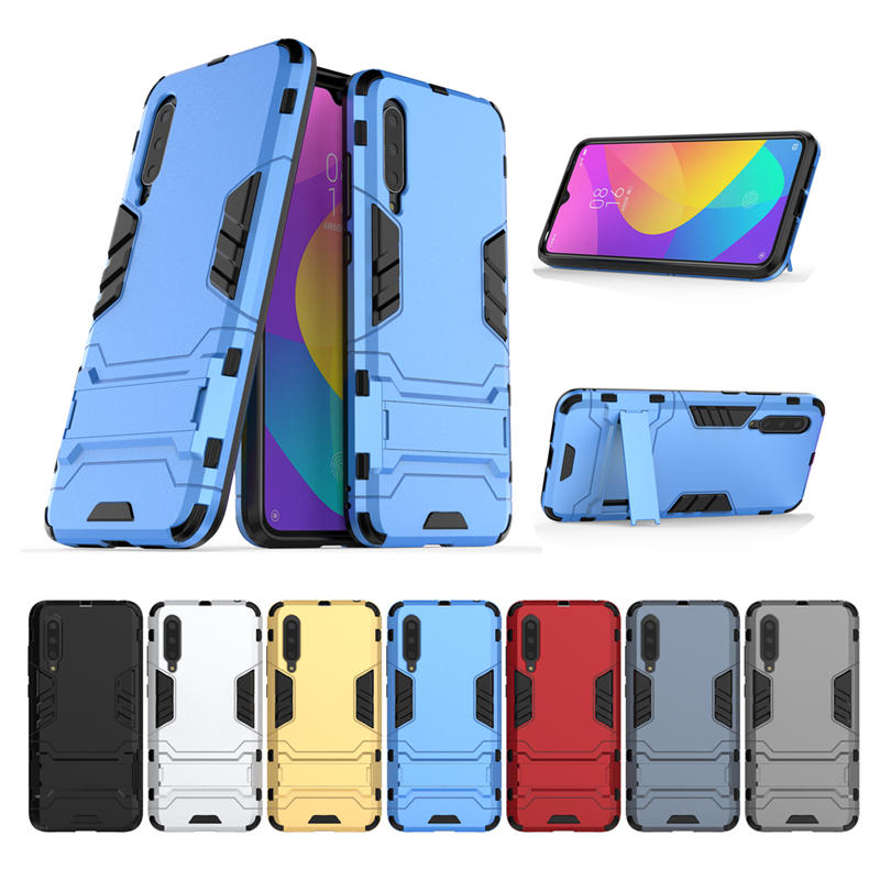 For Xiaomi Mi9 Lite / Xiaomi Mi CC9 Armor Shockproof Back Cover with Stand Holder