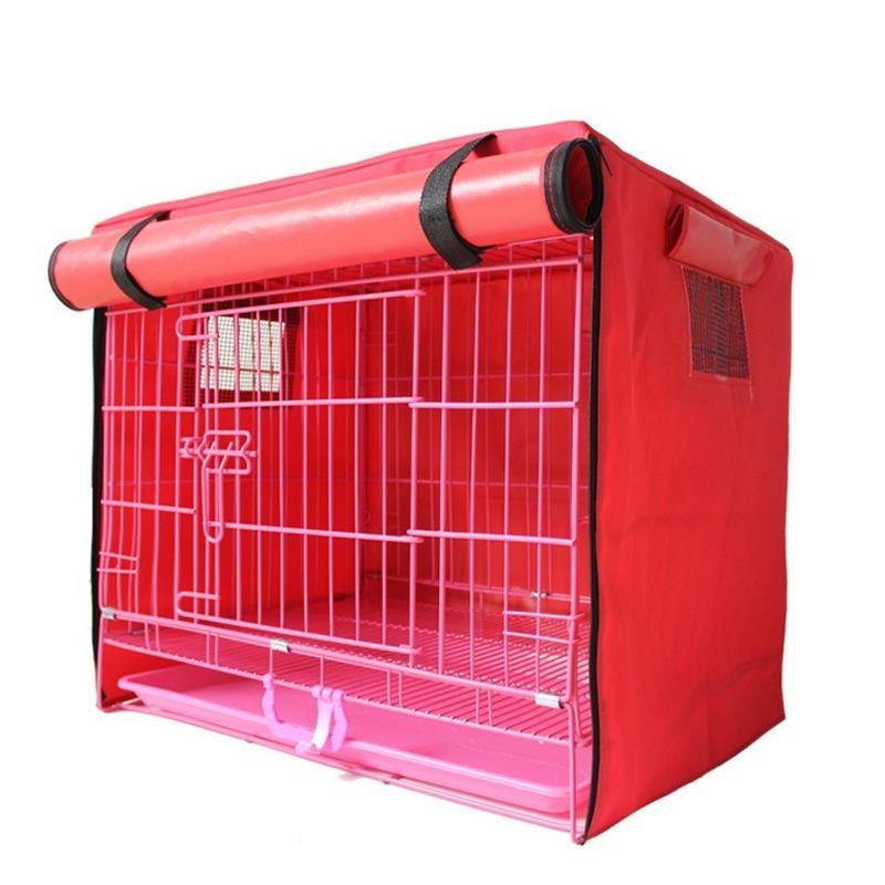 防水防風防塵クレートカバーS / M / L / XLペットベッド犬小屋防蚊フライング昆虫ネットテントカバー屋内/屋外