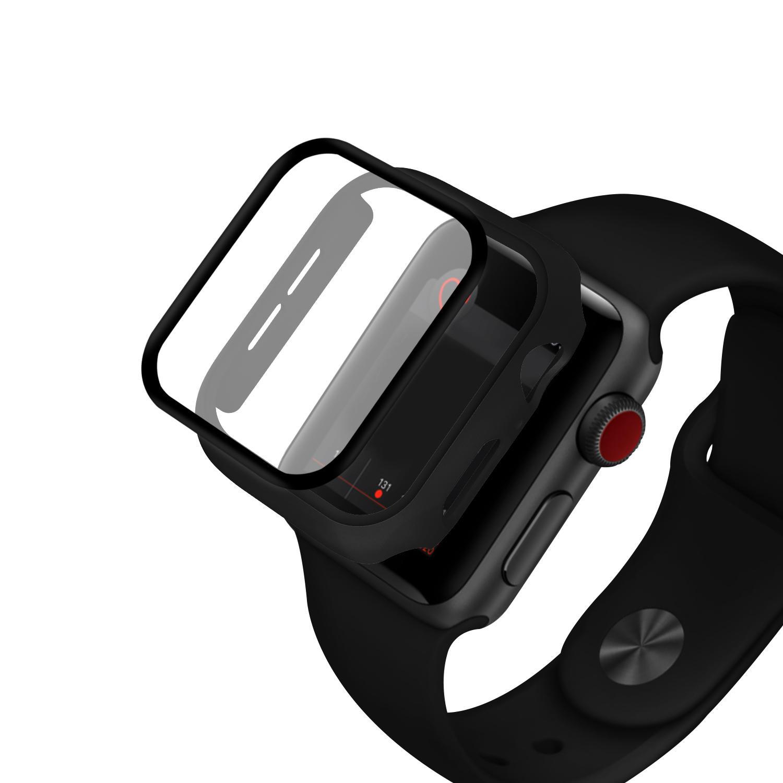 Enkay PC-klokkeklokke med full kropp + herdet glass-skjermbeskytter for Apple Watch Series 5 44mm / Apple Watch Series 4 44mm