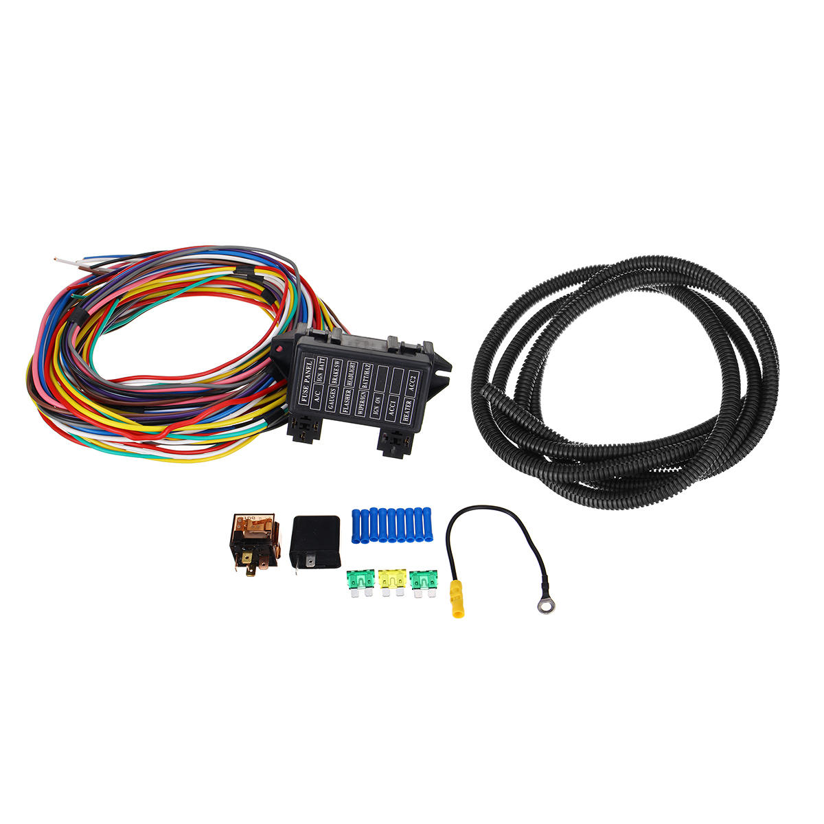 [DIAGRAM_5UK]  14 Circuit Universal Wiring Harness Bumper Wire Kit 12V Durability Car Hot  Rod S - US$56.89 | Hot Rod Wiring Harness |  | Banggood