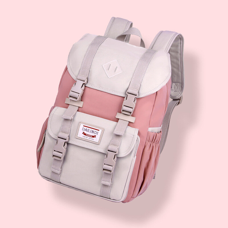 Women Canvas Casual Patchwork Fashion Waterproof Backpack