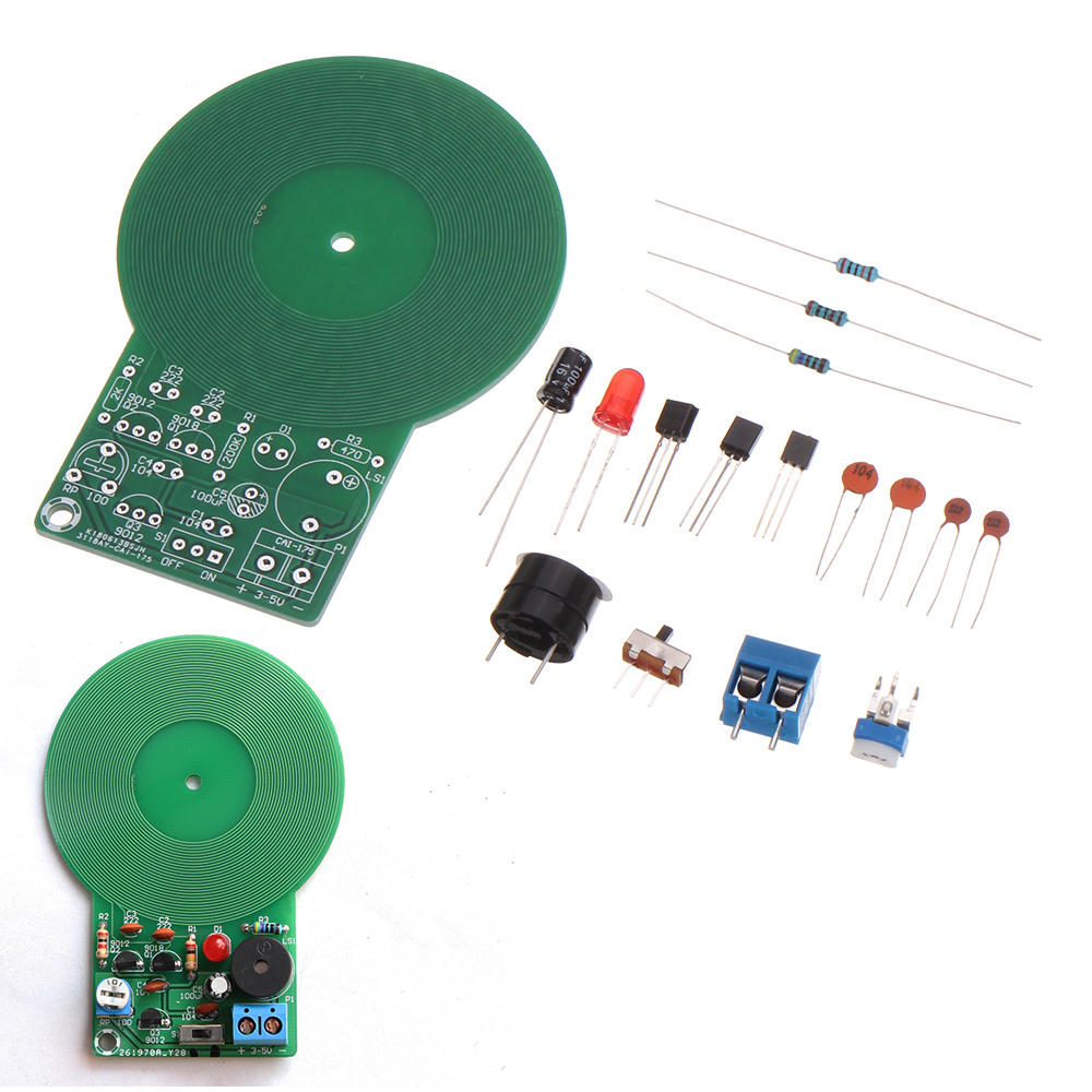 1DIY Electronic Kit Set Metal Detector Electronic Detector Parts DIY Soldering Practice Board for Skill Competition, Banggood  - buy with discount