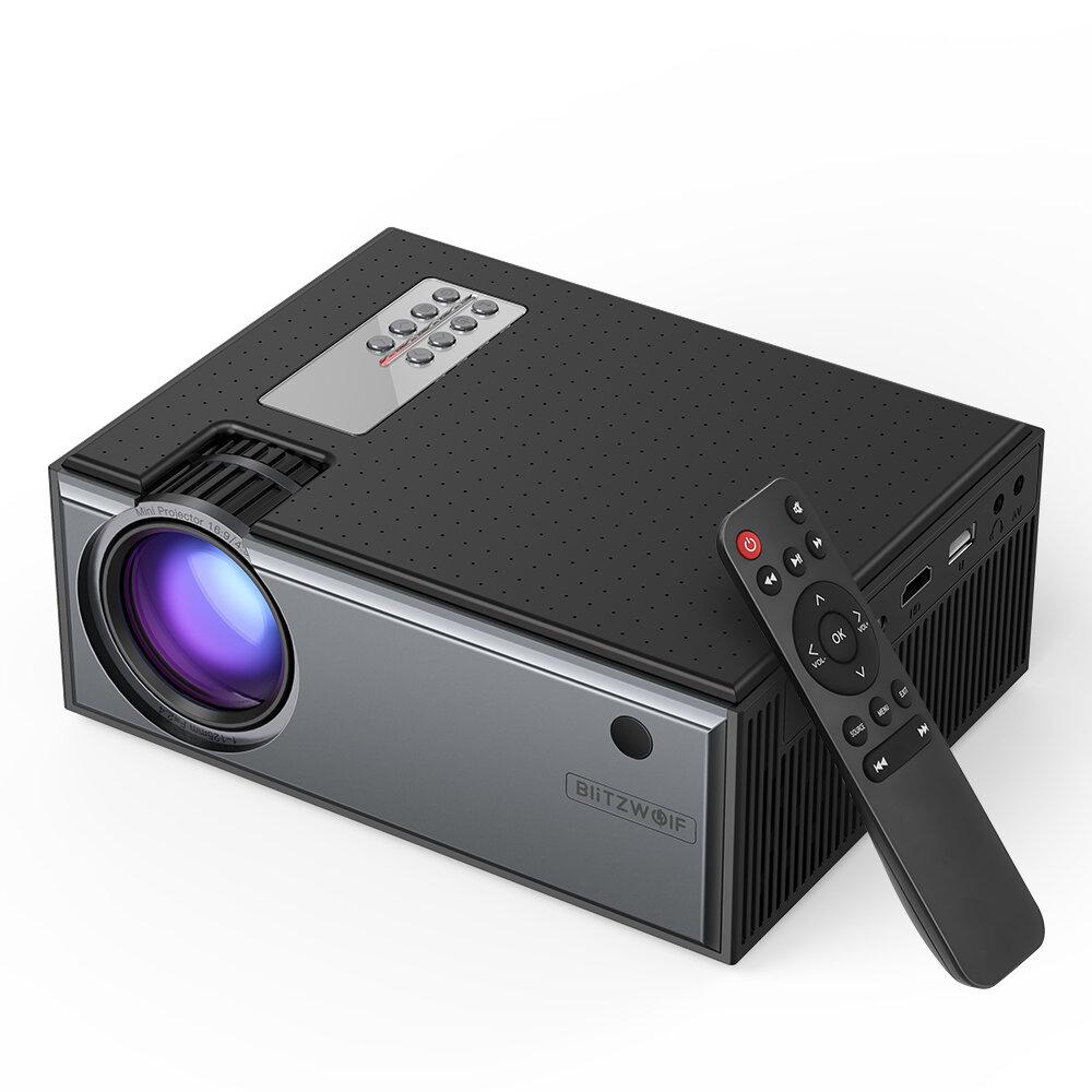 מקרן LCD של Blitzwolf® BW-VP1 2800 לומנים תומך קלט 1080P יציאות מרובות מקרן קולנוע ביתי חכם נייד עם שלט רחוק