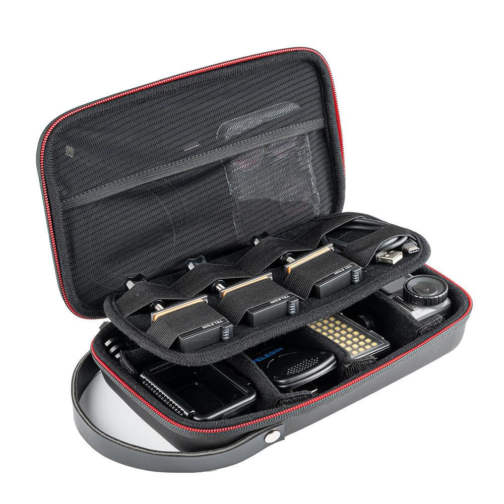 TELESIN GP-PRC-278 Multi-function Storage Bag Protective Case for GOPRO DJI Xiaomi Mijia Action Sports Camera