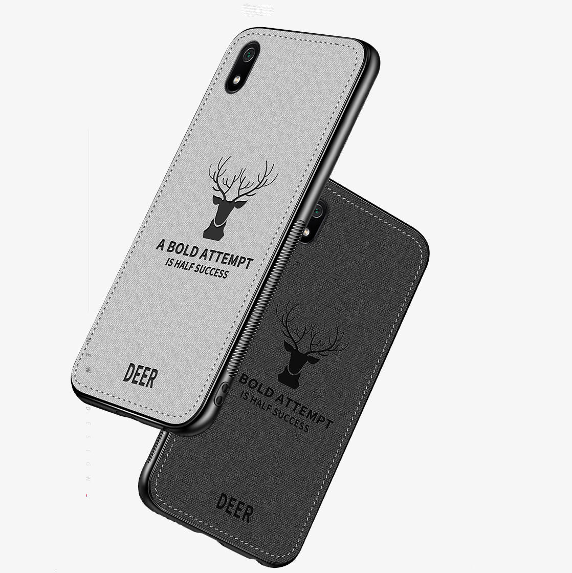 BAKEEY Deer Classic Canvas Cloth Shockproof Protective Case for Xiaomi Redmi 7A