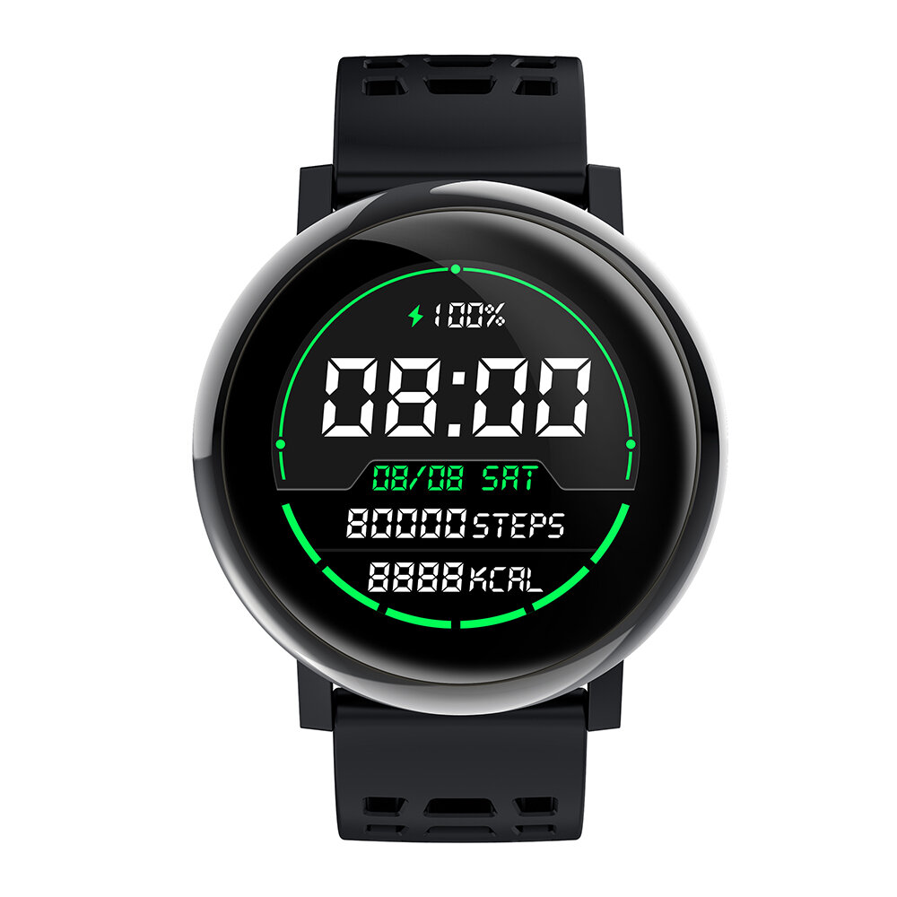 Bakeey G30 24h Heart Rate Blood Pressure O2 Monitor 1.3inch IPS Full-touch Screen bluetooth Music Weather Push Smart Wat