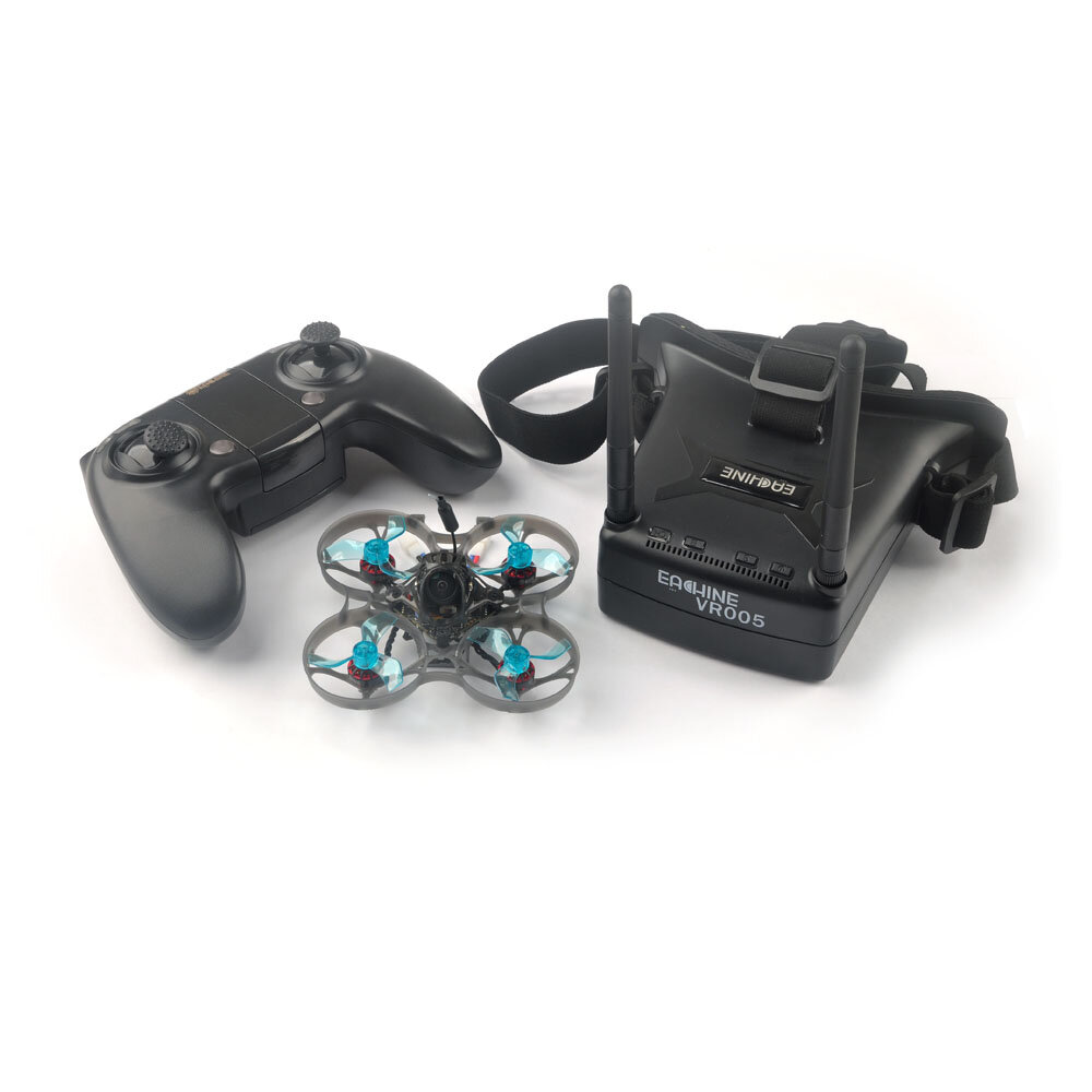 Eachine Novice-I 75mm 1-2S Whoop FPV Racing Drone RTF & Fly more w/ WT8 2.4G Transmitter 5.8Ghz 48CH VR005 Goggles