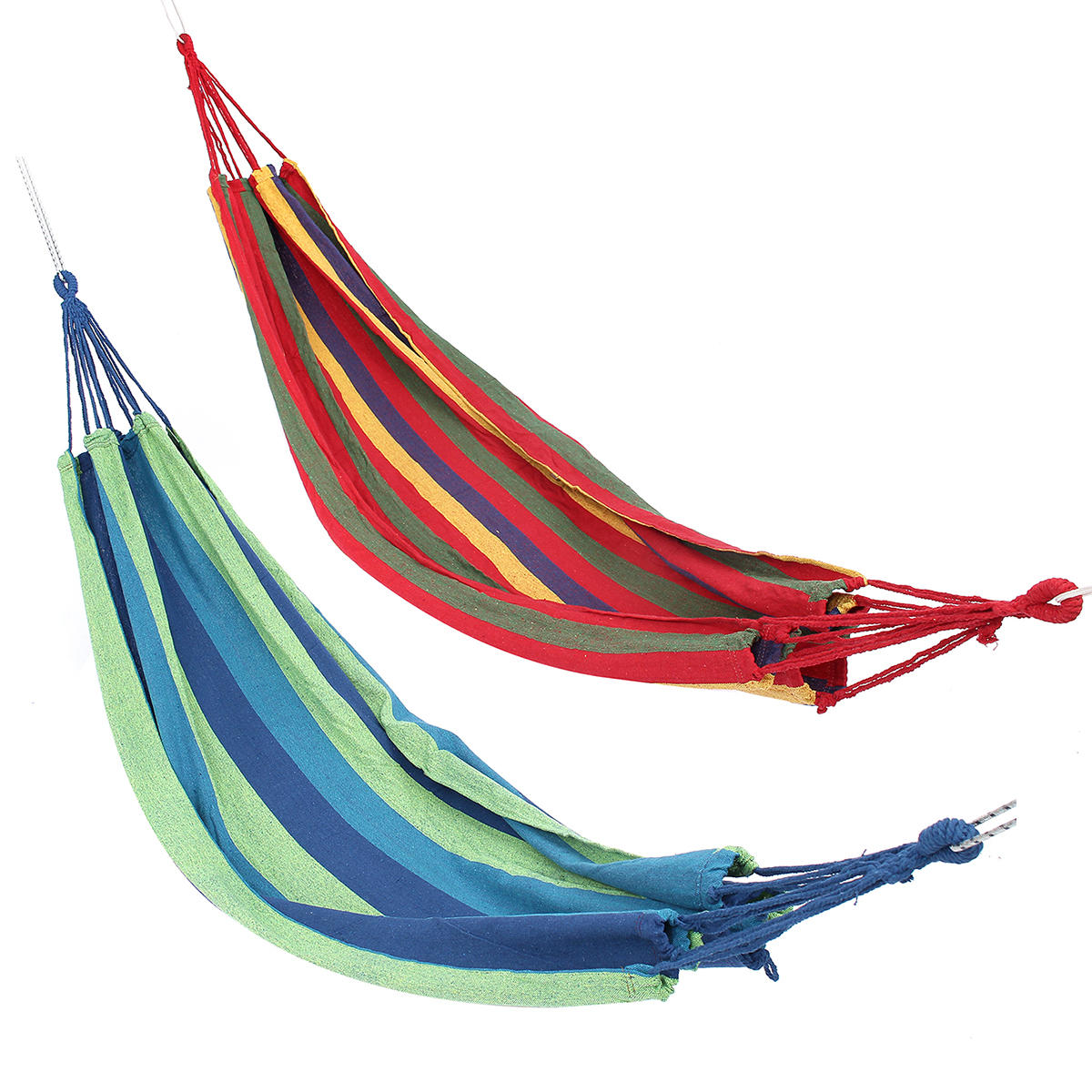 Double Large Swing Hammock Canvas Camping Hang Bed Garden Travel Beach Outdoor Chair