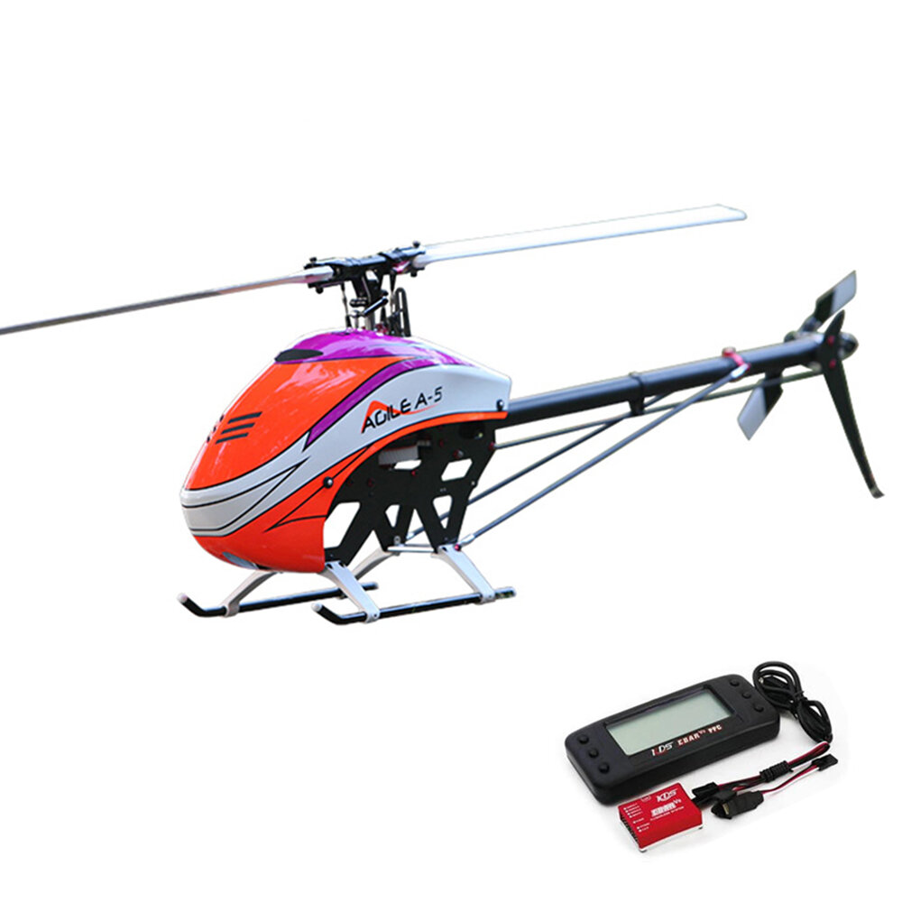 KDS AGILE A5 6CH 3D Flybarless 550 Class Belt Drive RC Helicopter Kit With EBAR V2 Gyro'