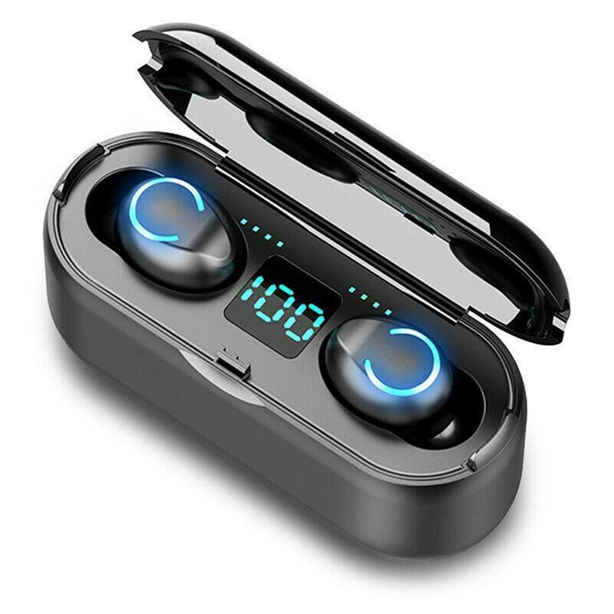 F9-8 TWS Tai nghe không dây bluetooth 5.0 Tai nghe HiFi Stereo 3500mAh Power Bank IPX7 Tai nghe chống nước có Mic cho iPhone Xiaomi