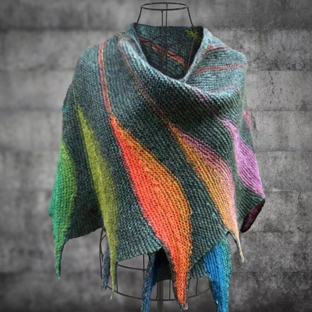 Bufandas y chales de punto de color casual