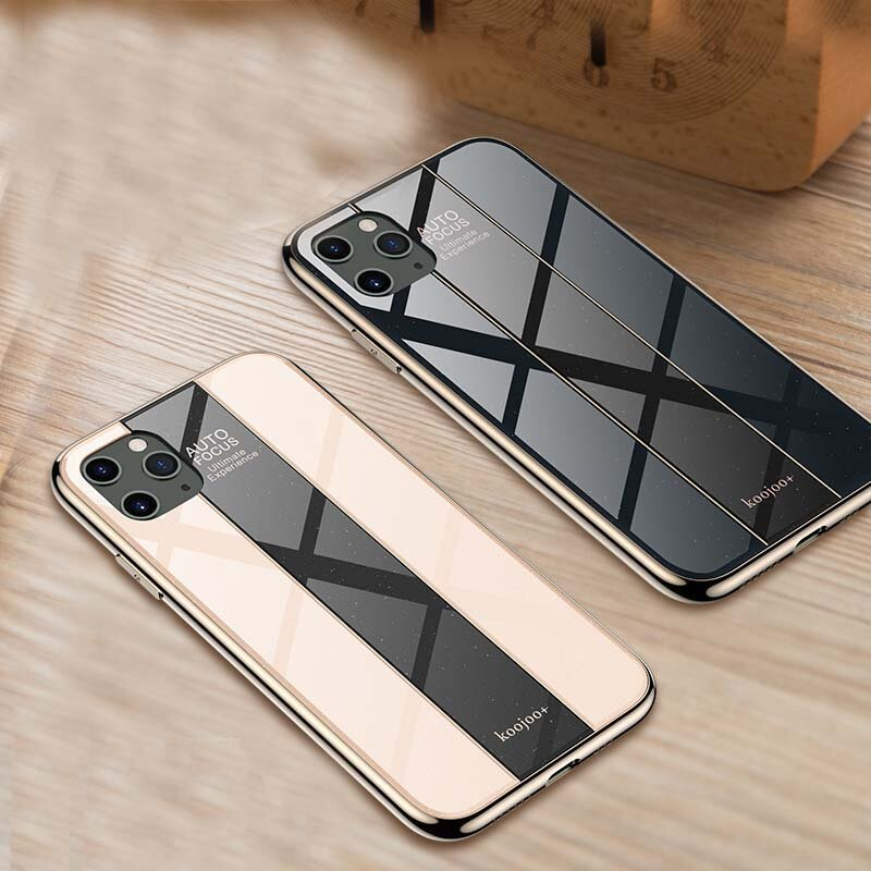 Bakeey Luxury Plating Anti-scratch Herdet glass beskyttelsesetui til iPhone 11 Pro 5,8 tommer