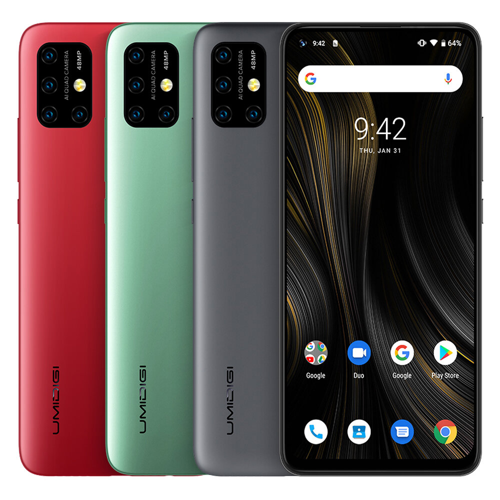 UMIDIGI Power 3 Global Bands 6.53 inch FHD+ Fullview Display Android 10 6150mAh NFC 48MP AI Quad Cameras 4GB RAM 64GB ROM Helio P60 Octa Core 2GHz 4G Smartphone