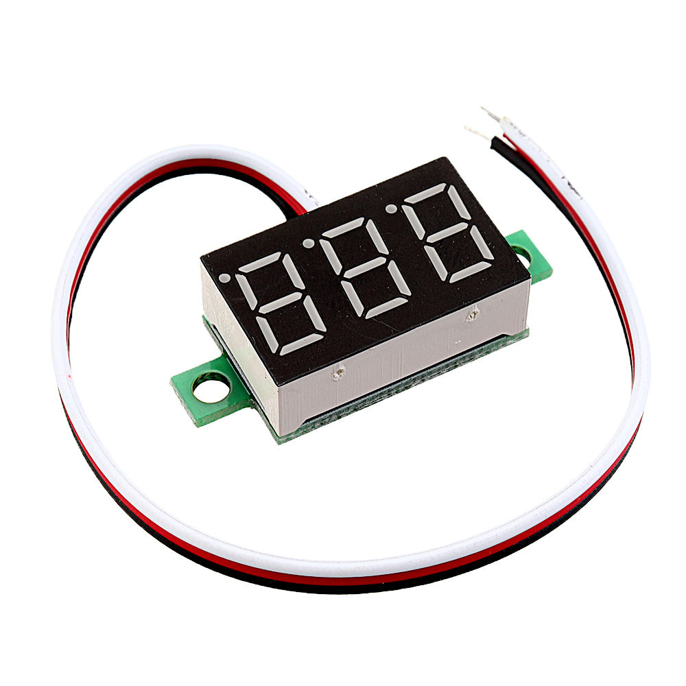 Arduino 20pcs 0.36 Inch DC0V-32V Red LED Digital Display Voltage Meter Voltmeter Reverse Connection Protection фото