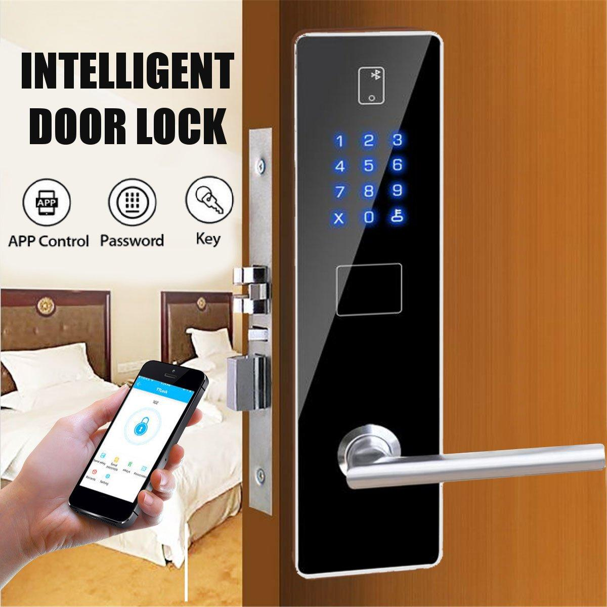 Smart Door Lock APP Unlock Password Optics Digital Touch Anti Theft Security