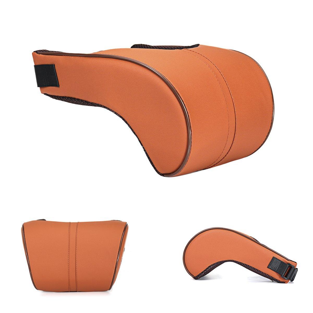 Adjustable Leather Slow Rebound Cotton Car Neck Waist Lumbar Protector Headrest Pillow Automobile Cushion