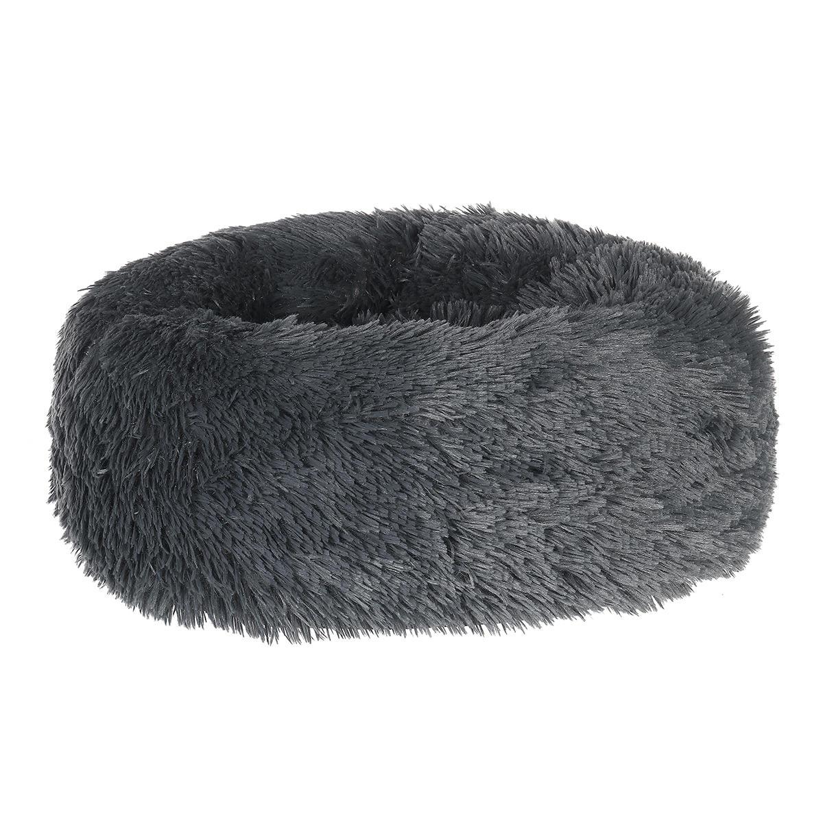 犬ペットベッド猫用ベッドフェイクファーカドラーラウンド快適サイズウルトラSoft犬と猫用の落ち着きのあるベッド自己温暖化屋内スヌーズスリーピングクッションベッド