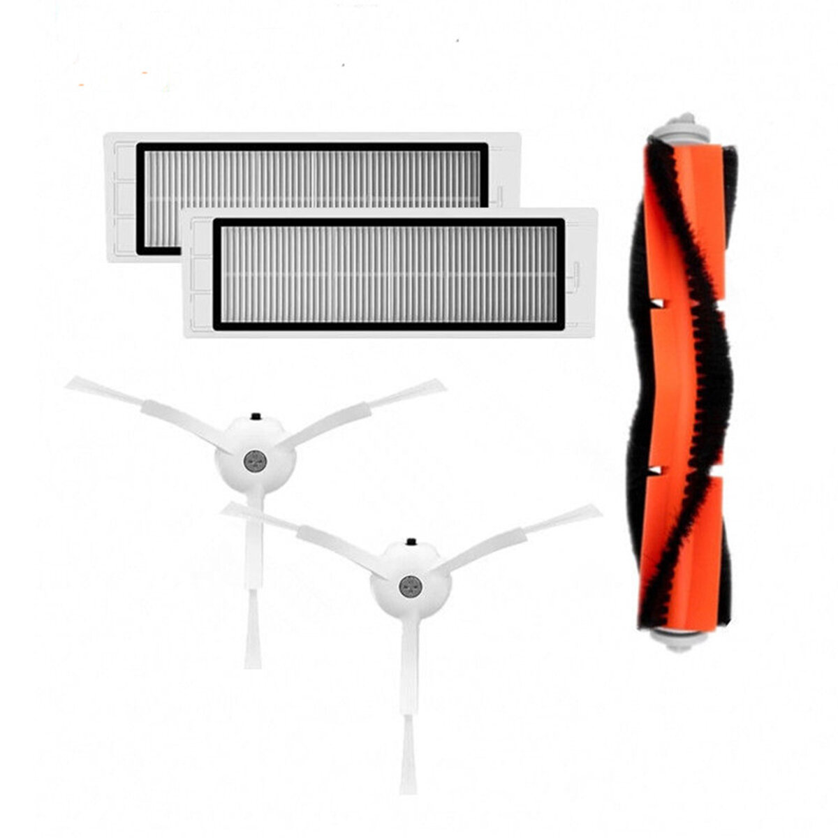 Main Brush+HEPA Filter+Side Brushes Fit Replacement Accessories For Xiaomi MI Robot Vacuum Cleaner