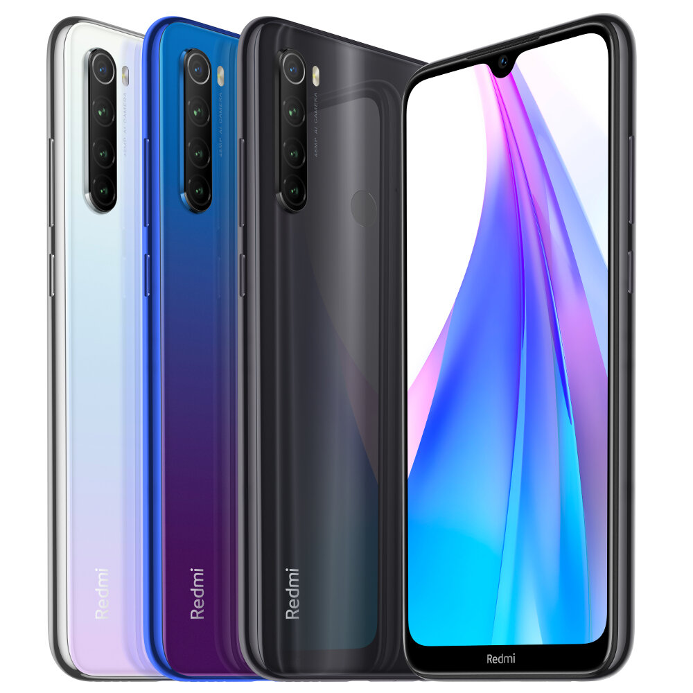 Xiaomi Redmi Note 8T Global Version 6,3 tommers NFC 48MP Firekamera bak 3GB 32GB 4000mAh Snapdragon 665 Octa core 4G Smartphone