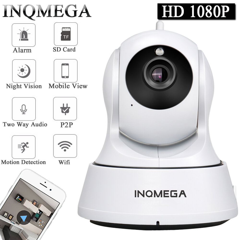INQMEGA HIP329 Cloud 1080P Wireless IP Camera H.264 Infrared Night Version Motion-Detection Home Security Camera Baby Monitors