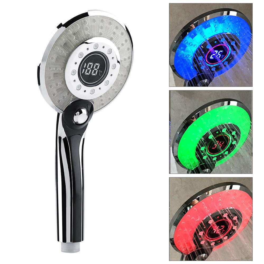 Bakeey LED Light LCD Display Third Gear Water Flow Self Illumination Temperature Control Shower Head For Smart Home, Banggood  - buy with discount
