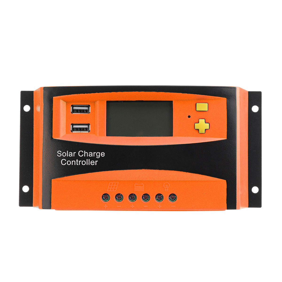 12/24V AUTO 20A/30A/40A/50A/60A Solar Controller Support Dual USB Output & Over-Load Protection for Solar Panel Connecting