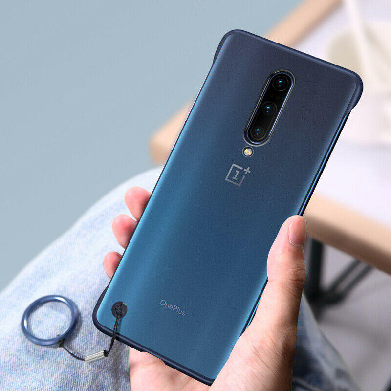 Bakeey OnePlus 7T Pro Frameless Ultra Thin Matte with finger ring Hard PC Protective Case