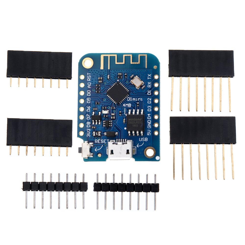 D1 Mini V3.0.0 WIFI Papan Pengembangan Berbasis Internet Hal ESP8266 4MB MicroPython Nodemcu Geekcreit untuk Arduino - produk yang bekerja dengan papan Arduino resmi