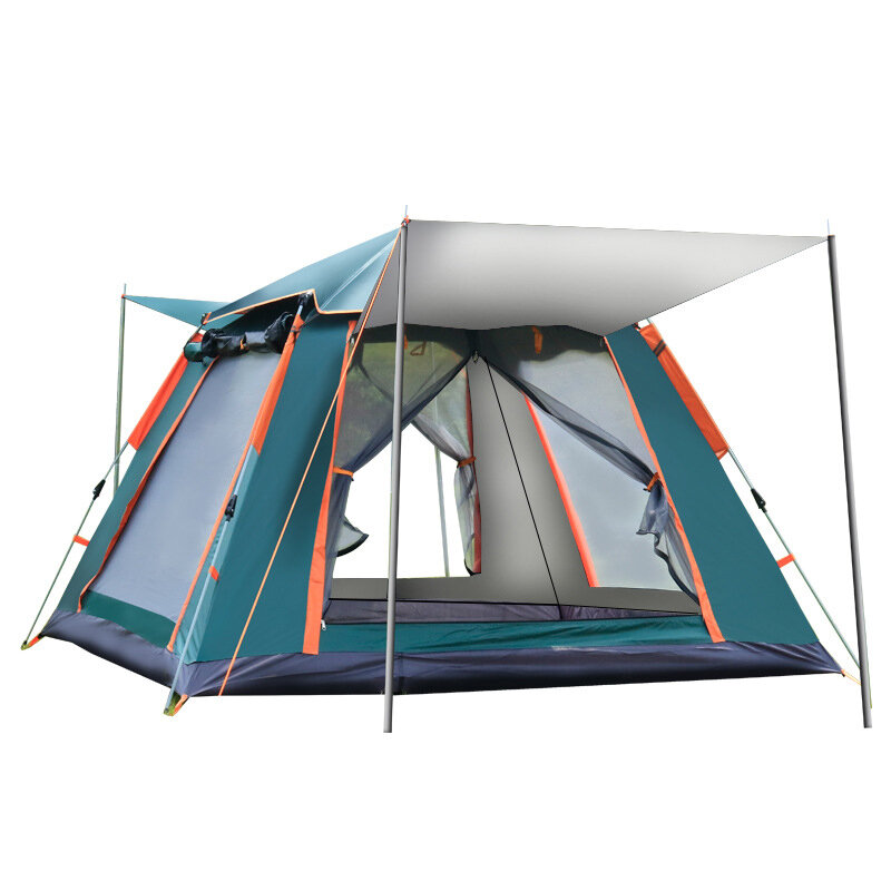 XMUND Outdoor Automatic Tent 4 Person Family Tent Picnic Traveling Camping Tent Outdoor Rainproof Windproof Tent Tarp Sh фото