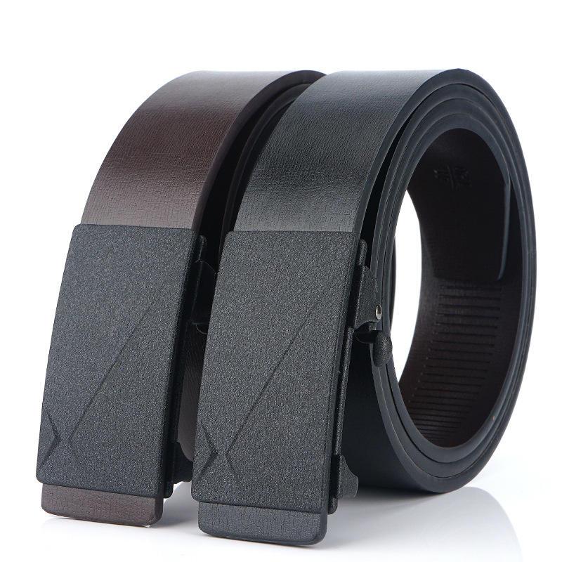130cm TUSHI L13 Men Cow Leather Waist Belt Zinc Alloy Buckle Adjustable Durable Casual Belt