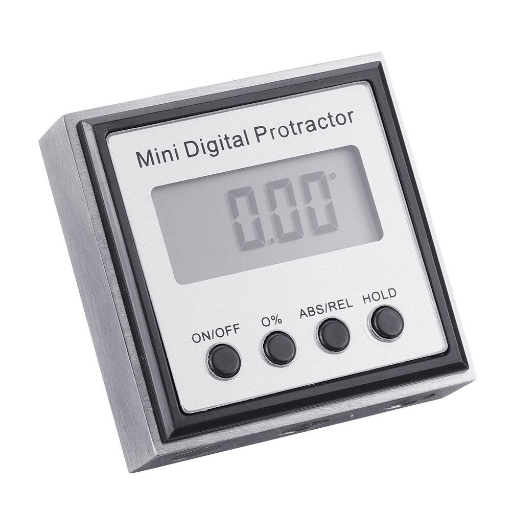 Картинка - Drillpro нержавеющая сталь 360 градусов мини цифровой транспортир инклинометр электронный уровень Коробка магнитное осно