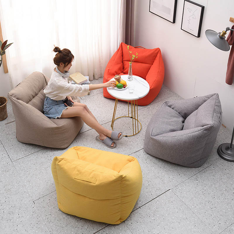Super Square Couch Bean Bag Lazy Sofa For Leisure Sitting Room Household Bedroom Can Unpick And Wash Machost Co Dining Chair Design Ideas Machostcouk