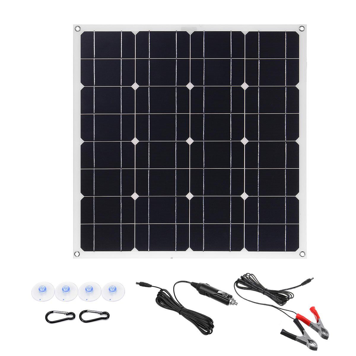 150W 18V Mono Solar Panel USB 12V/5V DC Monocrystalline Flexible Solar Charger For Car RV Boat Battery Charger Waterproo фото