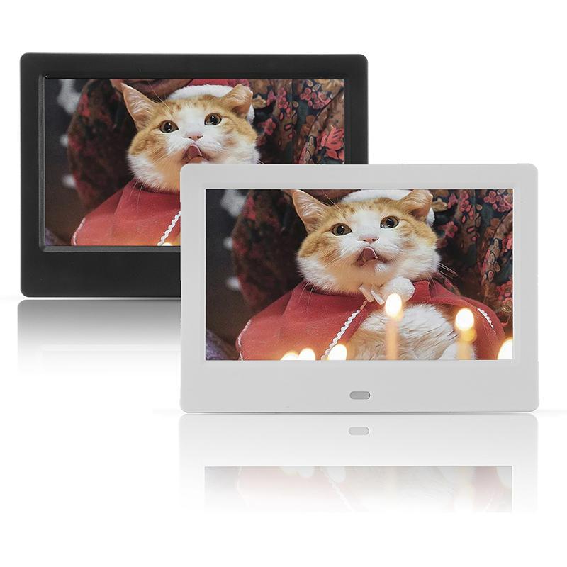 7 Inch 16: 9 HD Marco de fotos digital Album Holder Stand Decoración para el hogar con Control remoto
