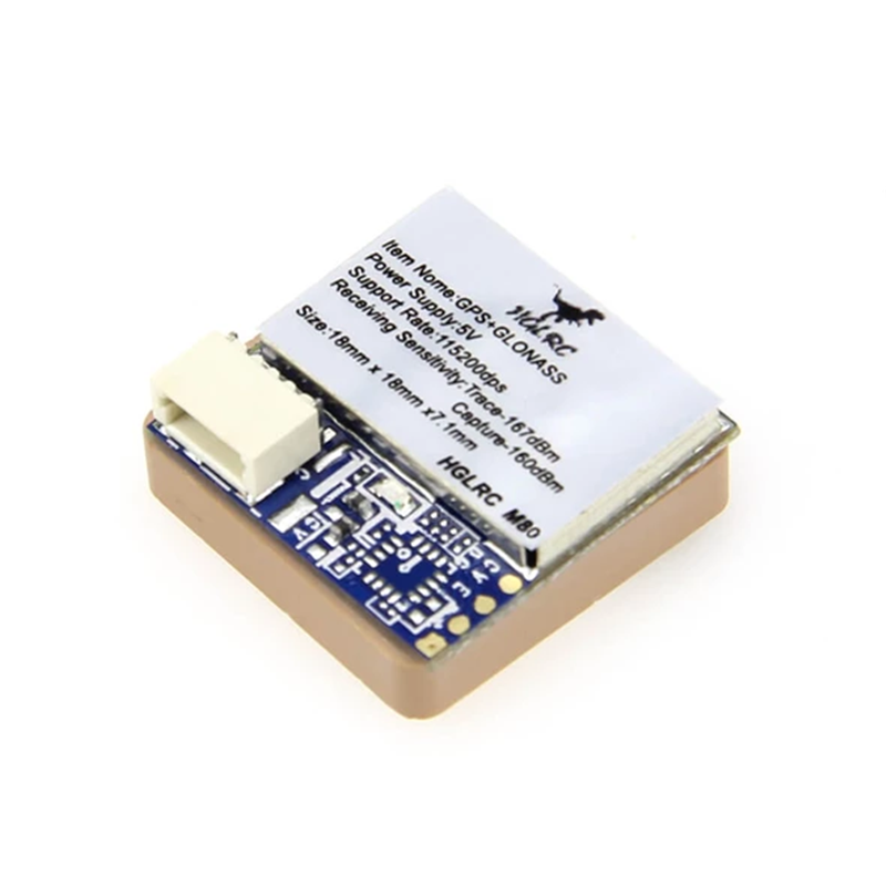 HGLRC M80 GPS Module for FPV Racing Drone Compatibled With GLONASS/GALILEO/QZSS/SBAS/BDS