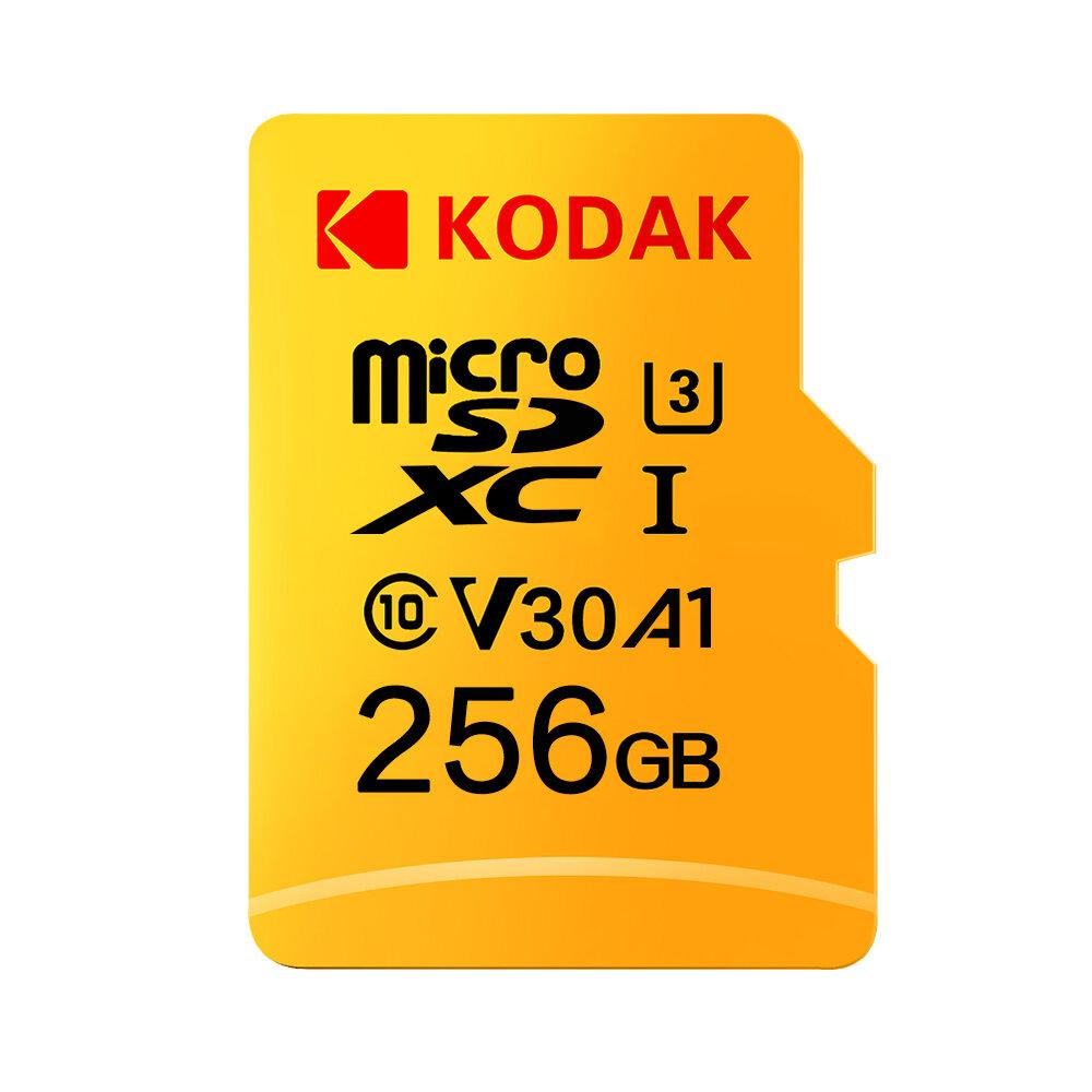 Kodak U3 V30 Class10 Micro SD Card SDXC SDHC SD Card Memory TF Flash Card 512GB 256GB for Video Storage Secure Digital Memory Card
