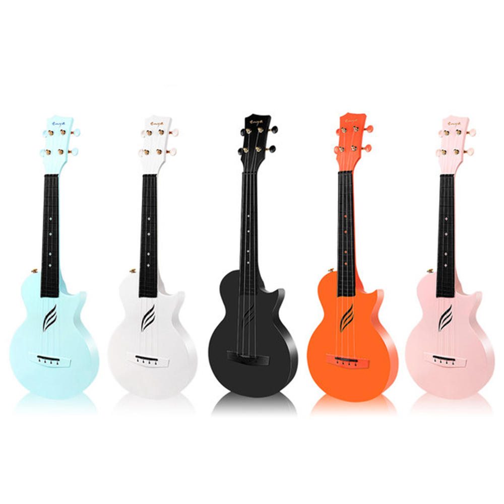 Enya Nova U 23 Inch Carbon Fiber Ukulele Kit with Case/Strap/Capo/Strings for Beginner